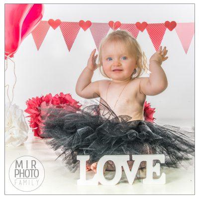 Séance photo enfant pour la Saint Valentin