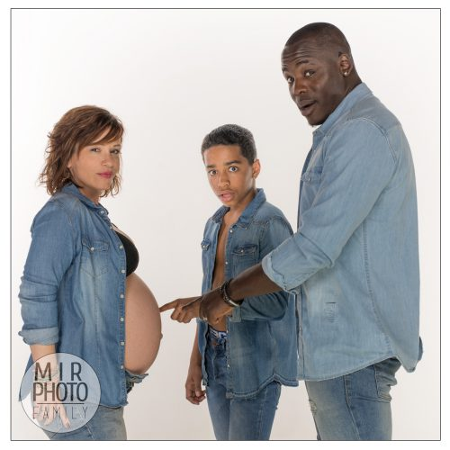 Shooting photo future maman en famille