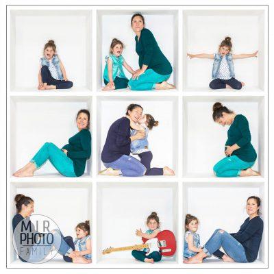 Séance photo fête des mères en Studio