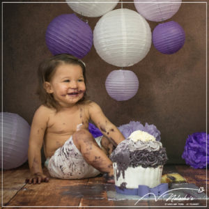 Smash the cake en studio photo dans le Val de Marne