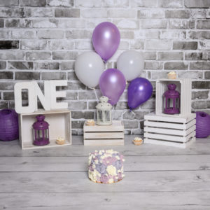 Smash the cake en studio - thème violet