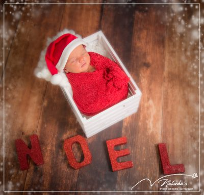 Shooting nouveau-né pour Noël