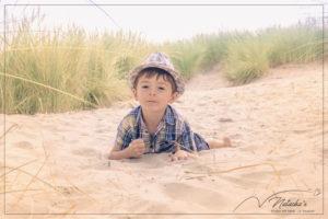 Shooting sur la plage du Touquet Paris Plage pour de belles photos en famille