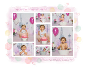 Smash the cake girly au Studio Mir Family