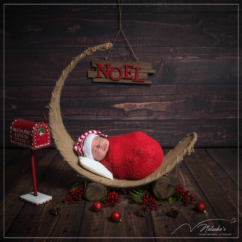 Séance photos nouveau-né pour noël