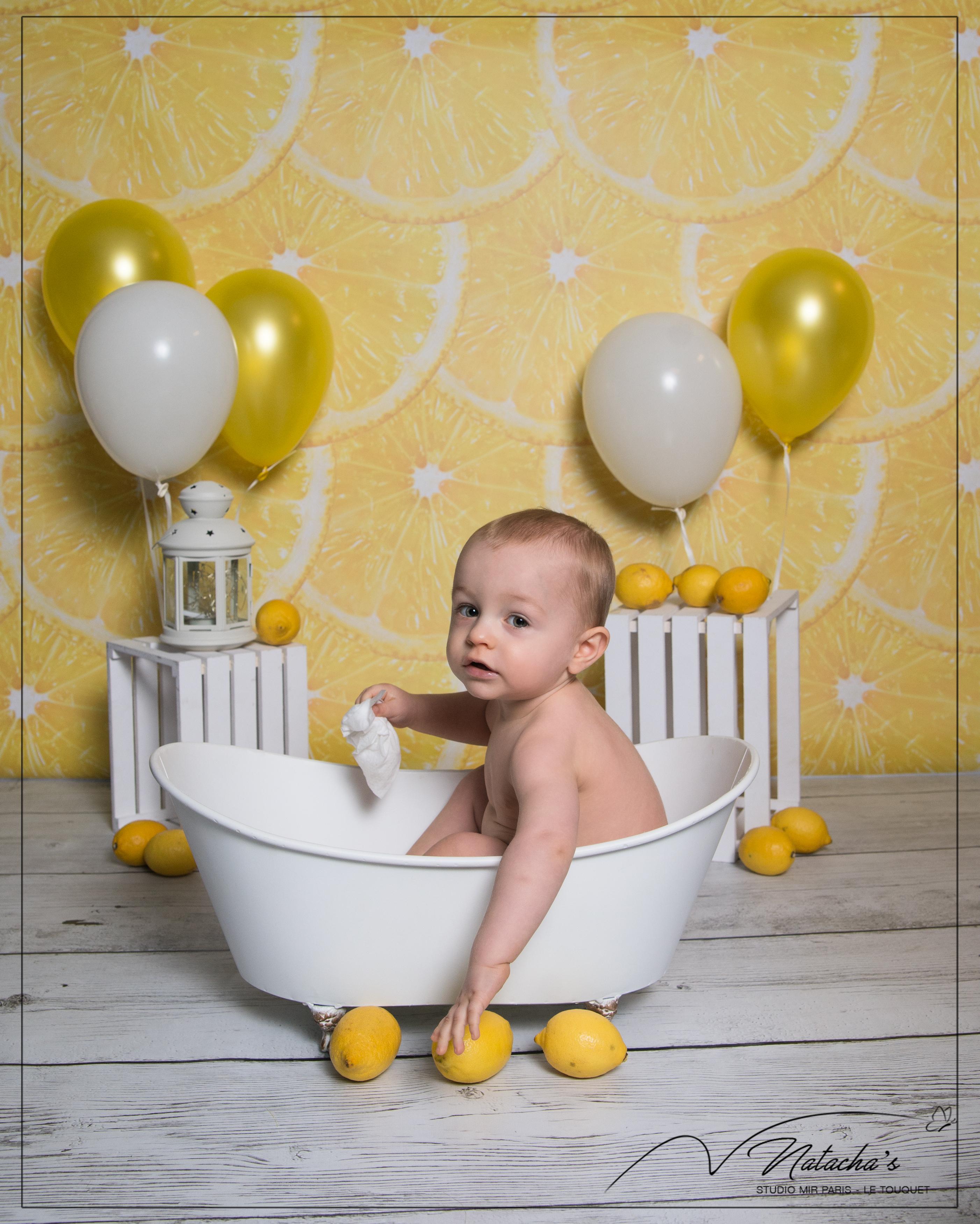 Shooting bain de lait thème citron