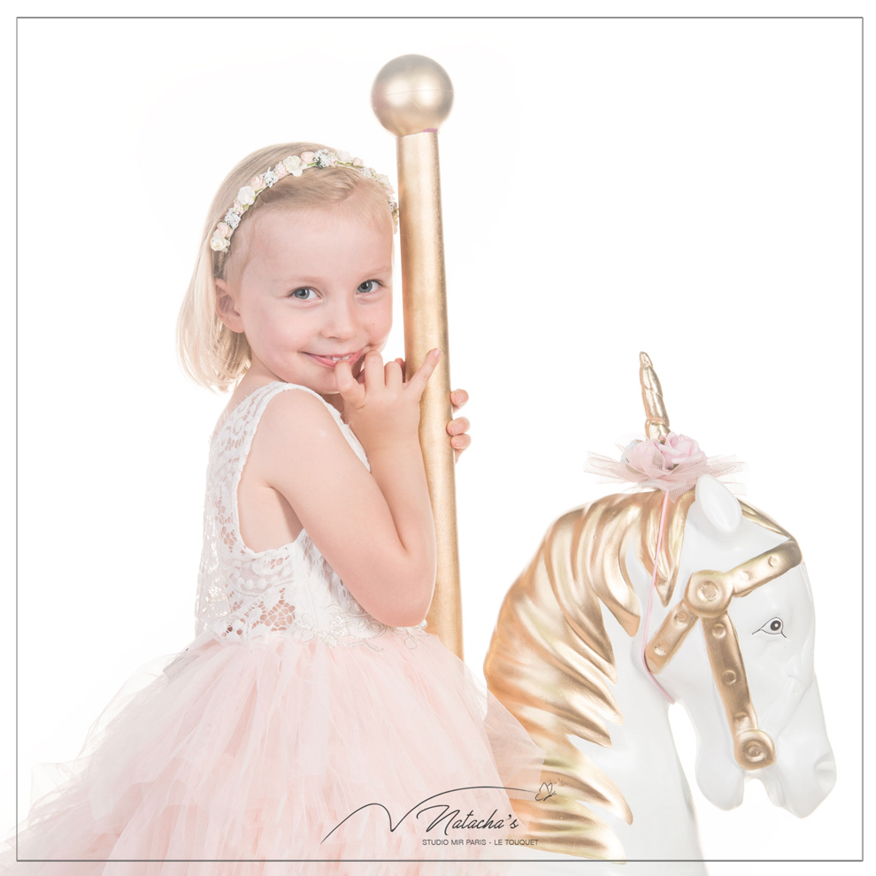 Shooting photos licorne pour enfant à Paris