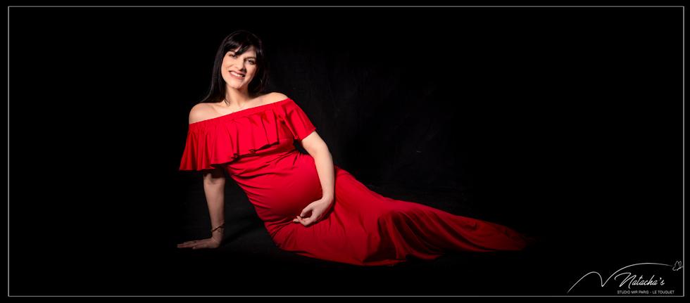 Photographe future maman en Studio dans le Val de Marne