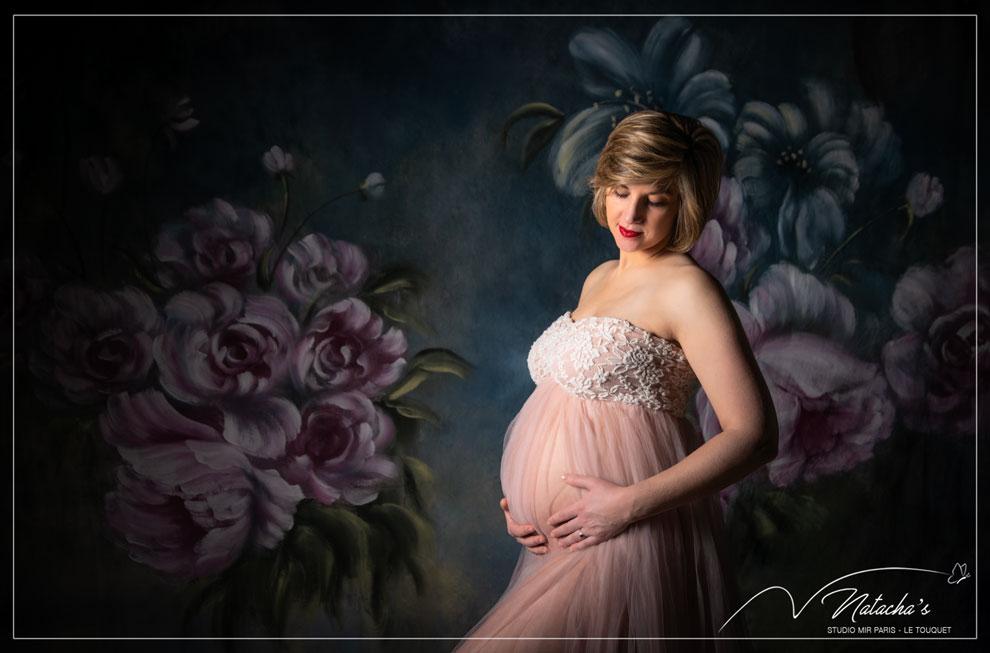 Photographe future maman dans le Val de Marne – Flowertime