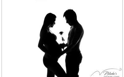 Photographe professionnelle : Séance photo grossesse en couple dans le Val de Marne