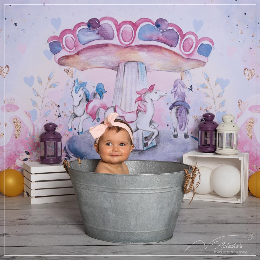 Séance photo d'enfant dans le bain dans le Val-de-Marne