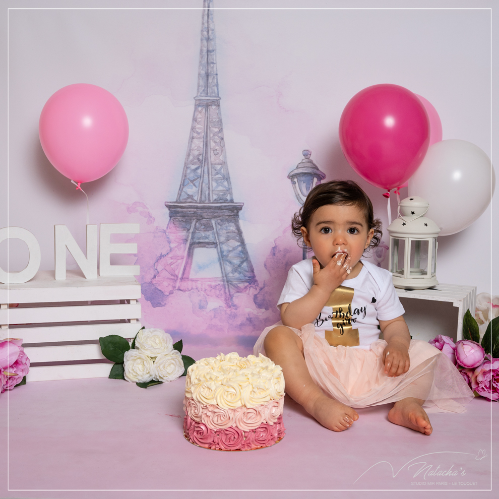 Séance Smash the Cake parisienne en studio dans le Val de Marne