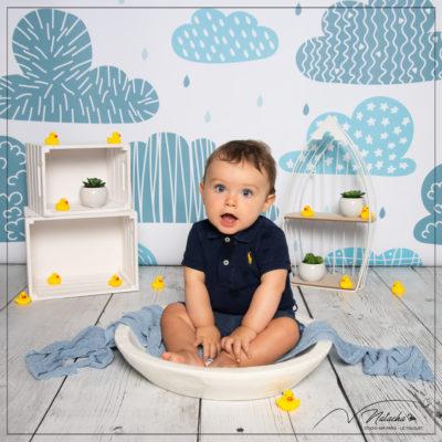 Séance photo bébé 6 mois en studio