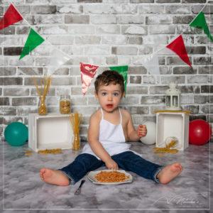 Shooting pasta party pour anniversaire 2 ans en région parisienne