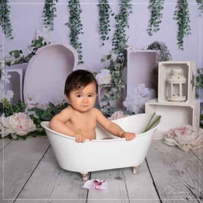 Shooting bain de lait bébé dans le Val de Marne