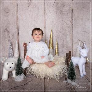 Shooting bébé thème hiver dans le Val de Marne