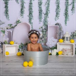 Photographe bain de lait enfant dans le Val de Marne