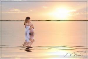 Shooting grossesse sur la plage du Touquet