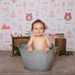 Photographe bébé : bain Smash The Cake dans le Val de Marne