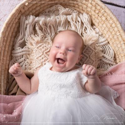 Shooting photo bébé d'1 mois au Studio Mir baby dans le 94