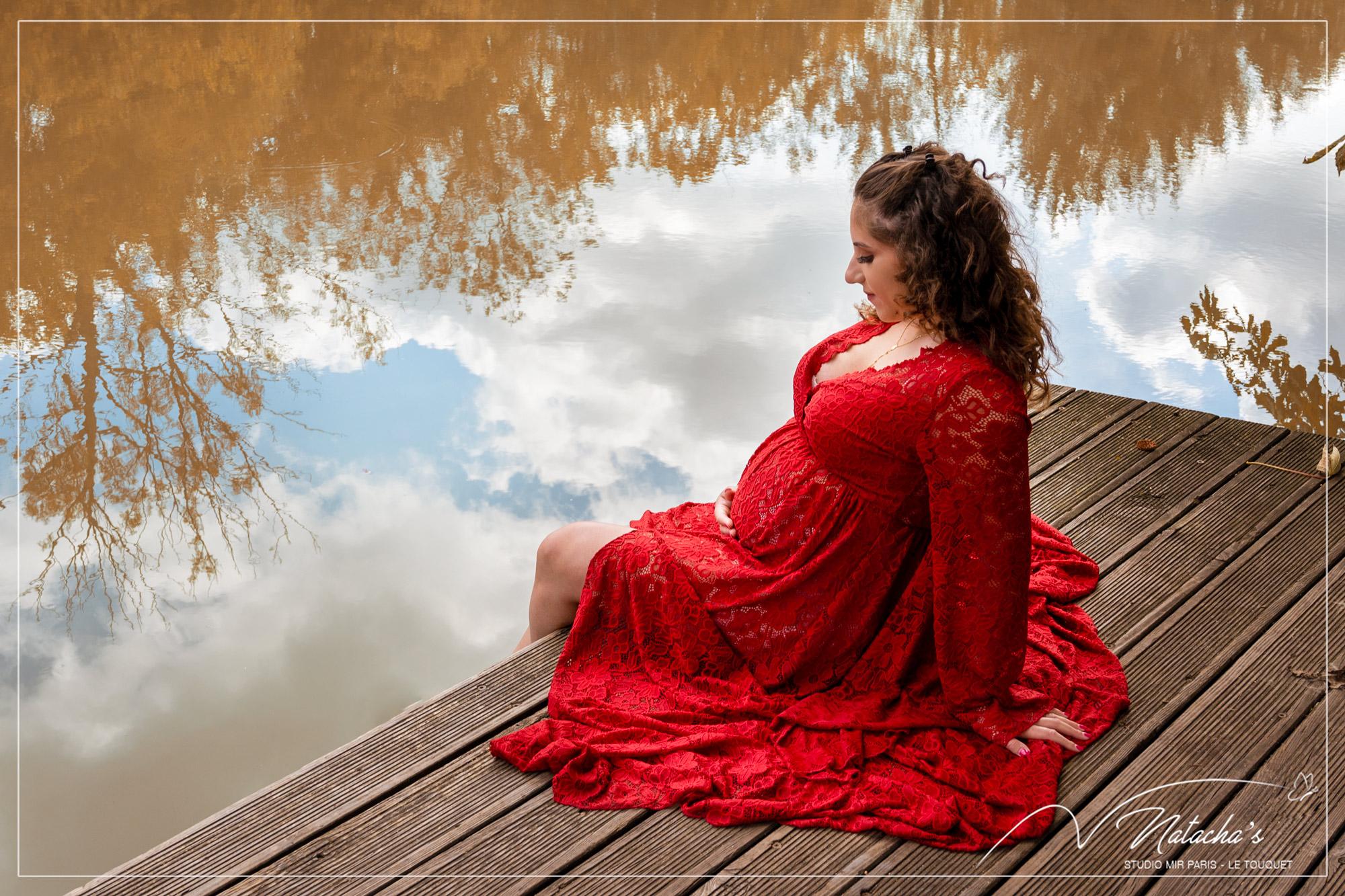 Shooting grossesse aux couleurs d'automne en Île de France